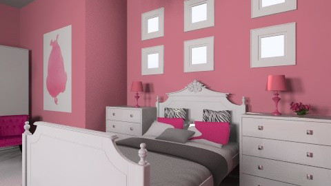 girl´s room - Glamour - Bedroom  - by chloe laine