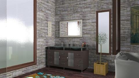 bain chocolate - Glamour - Bathroom  - by youssef_design
