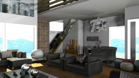 Galleried - Modern - Living room  - by camilla_saurus