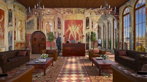 Design 529 Italian Embassy Lobby - Office  - by Daisy320