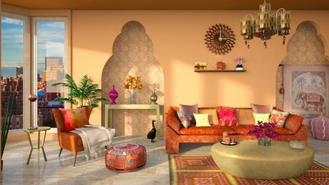 Indian Living - Living room  - by ginamelia22