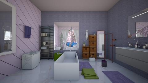 Lavender Bathroom - Feminine - Bathroom - by AngieDrws