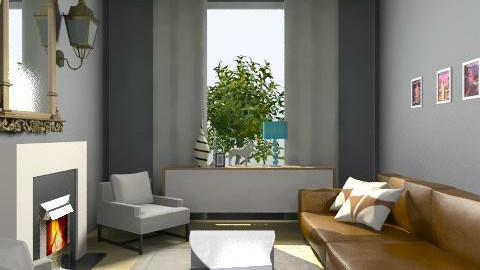 Gray - Eclectic - Living room  - by minerva8a