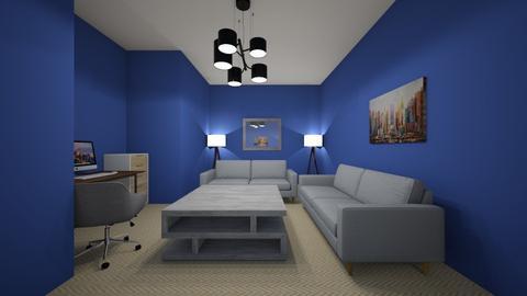Blue Walls - Office  - by Ahmedb
