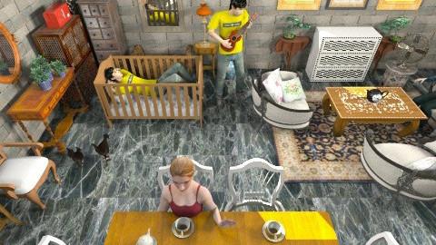 Grandma house - Living room - by evakiew