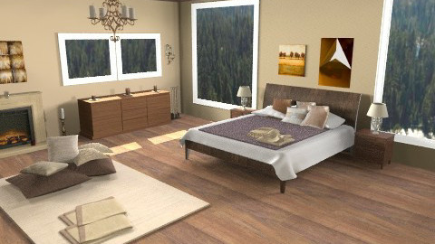 Forest House - Rustic - Bedroom  - by Lenii
