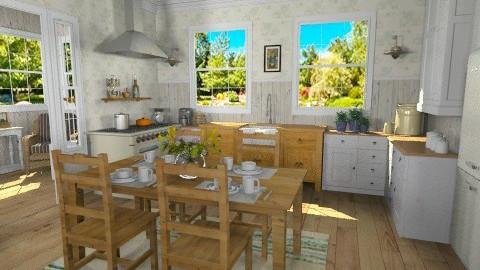 Summer Kitchen - Rustic - Kitchen  - by LizyD