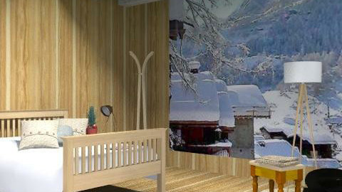 Cabin on the Slopes - Rustic - Bedroom  - by hunny