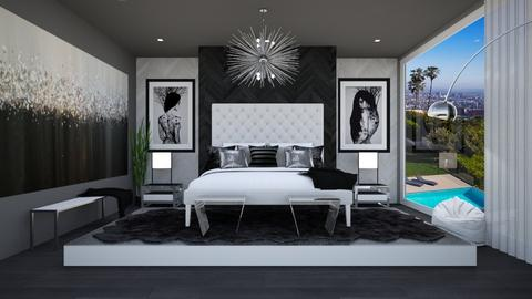 BLACK AND WHITE BOUDOIR - Modern - Bedroom  - by RS Designs