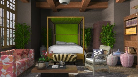 African Vibe - Eclectic - Bedroom  - by 3rdfloor