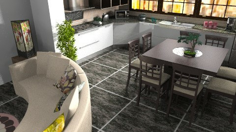 contemporary kitchen - Glamour - Kitchen  - by sally89