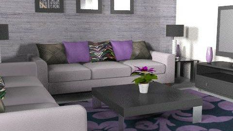 Purple/Black - Glamour - Living room  - by Cathd0411