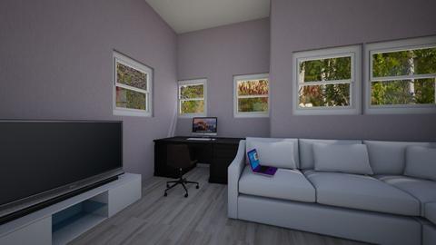 attic bedroom - Minimal - Bedroom  - by wolfiewolf123