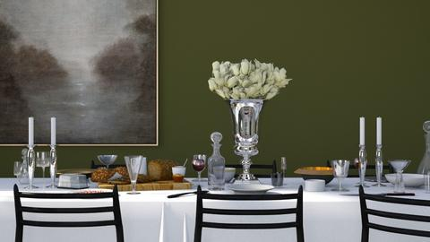 Dining in Green - Classic - Dining room  - by HenkRetro1960