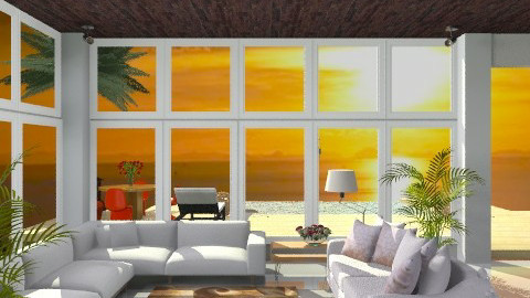 Malibu View - Country - Living room  - by jackiefruit