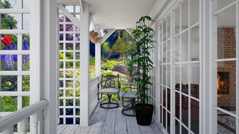 Cottage Porch - Garden  - by echatter