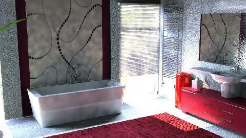 piros minimal furdoszoba - Minimal - by moncsi
