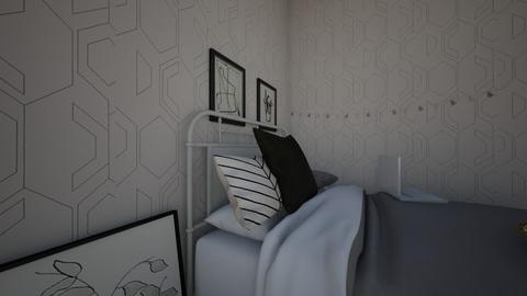 black and white teenroom - Modern - Bedroom  - by Lucy_J08