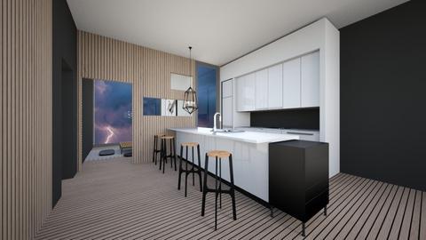 Modern House Kitchen  - Modern - Kitchen  - by Callmekai22