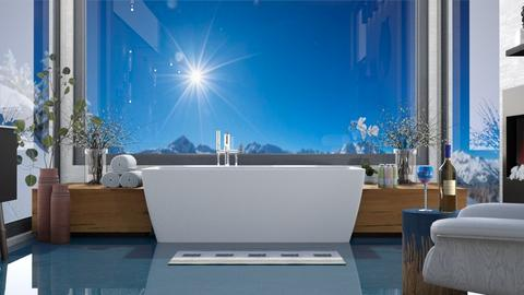 Relaxing Winter Bath - Bathroom  - by Amyz625
