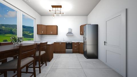 Brown kitchen - Classic - Kitchen  - by Twerka