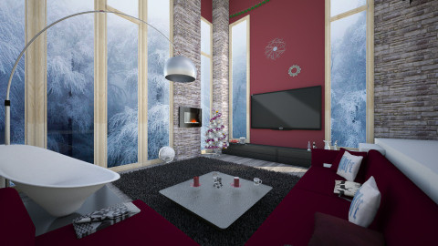 modern winter - Modern - Living room - by Bobikee