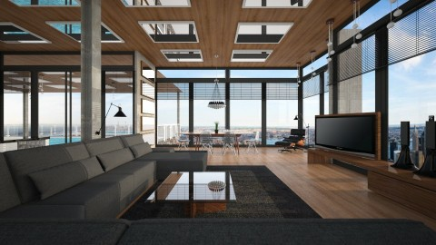 Penthouse Living - Living room  - by kingjackie51