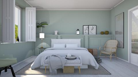 sage green bedroom - by Lo89