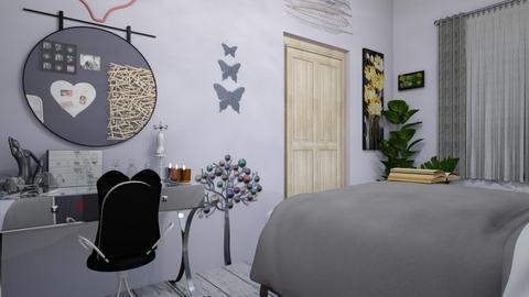 betsy s room - Glamour - Bedroom  - by kedilerleyiim