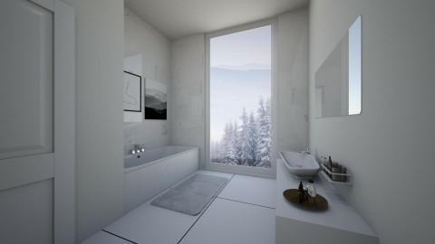 Snowy Bathroom - by lantrobus