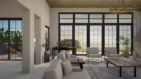 a lot of beige - Living room  - by dorota_k