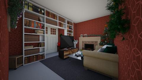 Christmas Living Room - Modern - Living room  - by Pugzilla369