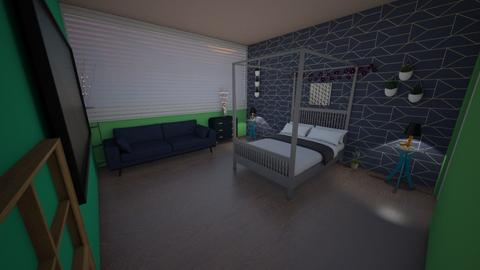 Blue green designkitty31 - Bedroom  - by Hamzah luvs cats