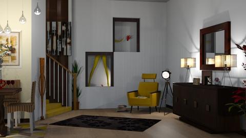 statement art - Modern - Living room  - by nat mi