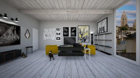 Industrial - Living room - by katiehuang