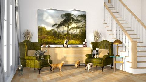 painting ADDED ANIMALS - by ur aunt marsha