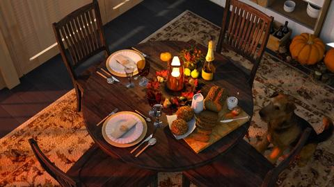 Thanksgiving Feast - Dining room - by Twilight Tiger