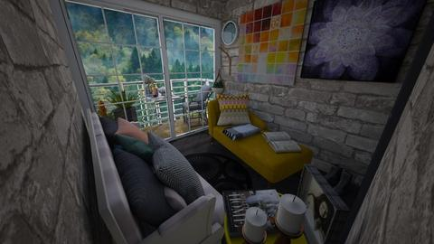 mountain cottage - Country - Living room  - by vilatte