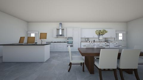 White Kichen - Modern - Kitchen  - by Maria Rachel