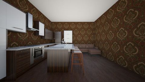 Kitchen  - Retro - Kitchen  - by Tardis900