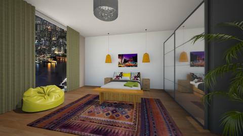 Digital Design Bedroom - Bedroom - by Hanna E