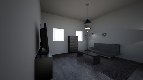 black living room - Living room  - by jslyn