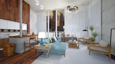 Penthouse  - Modern - Living room  - by sahfs