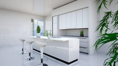 Pure white - Modern - Kitchen  - by rivka1