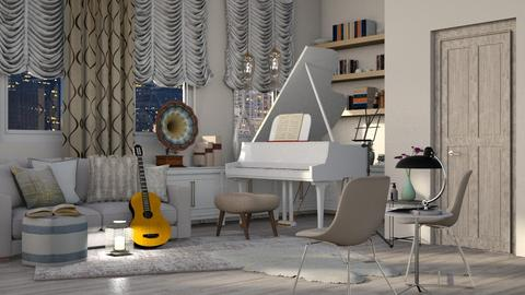 Shabby Chic Music Room - by millerfam