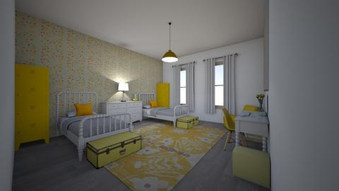 Yellow Sisters Bedroom - Bedroom - by LaurenTheOwl95