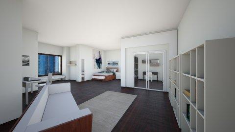 bedroom w book space - Minimal - Bedroom  - by elliebaaron