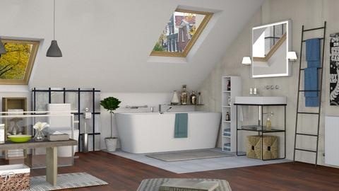 Attic Bathroom - Bathroom  - by Sally Simpson