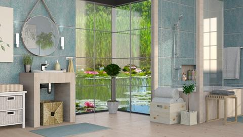 Lily Pond Bathroom - Eclectic - Bathroom  - by Sally Simpson