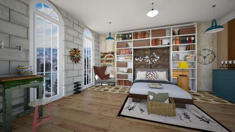 Industrial Chic - Retro - Bedroom  - by timeandplace